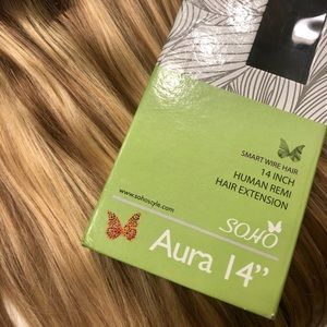 """AURA INVISIBLE WIRED HALO HUMAN HAIR EXTENSION 14"""""""